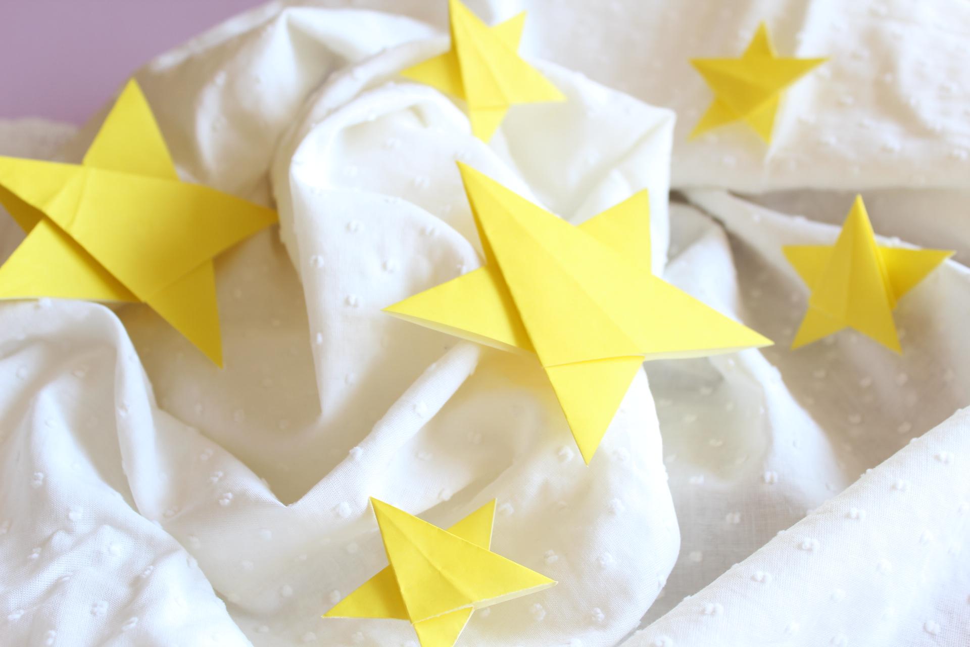 折り紙で星の折り方