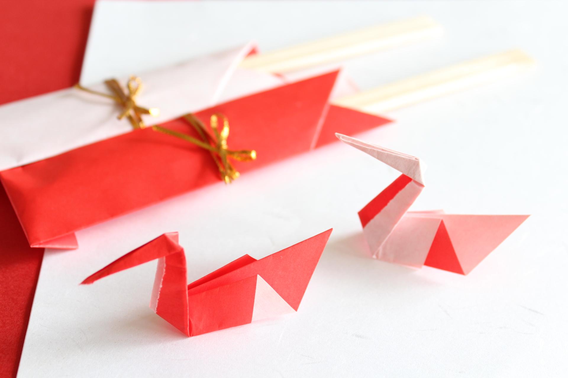 折り紙で箸置き