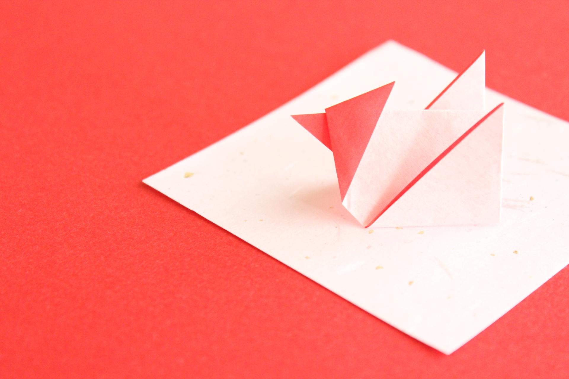 折り紙で酉の折り方