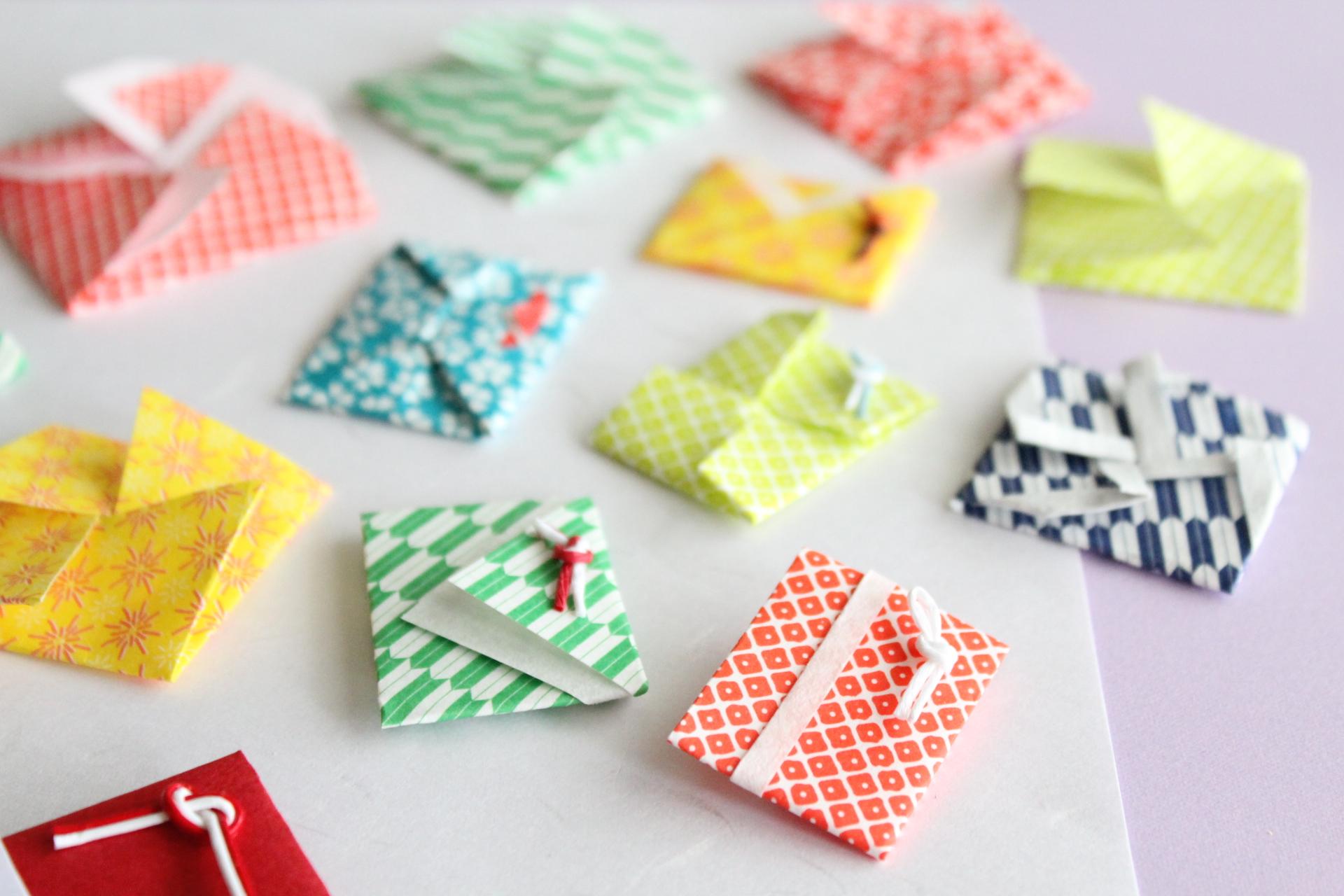 折り紙でポチ袋の折り方