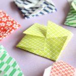 クルクル模様がきれいな正方形のポチ袋の作り方