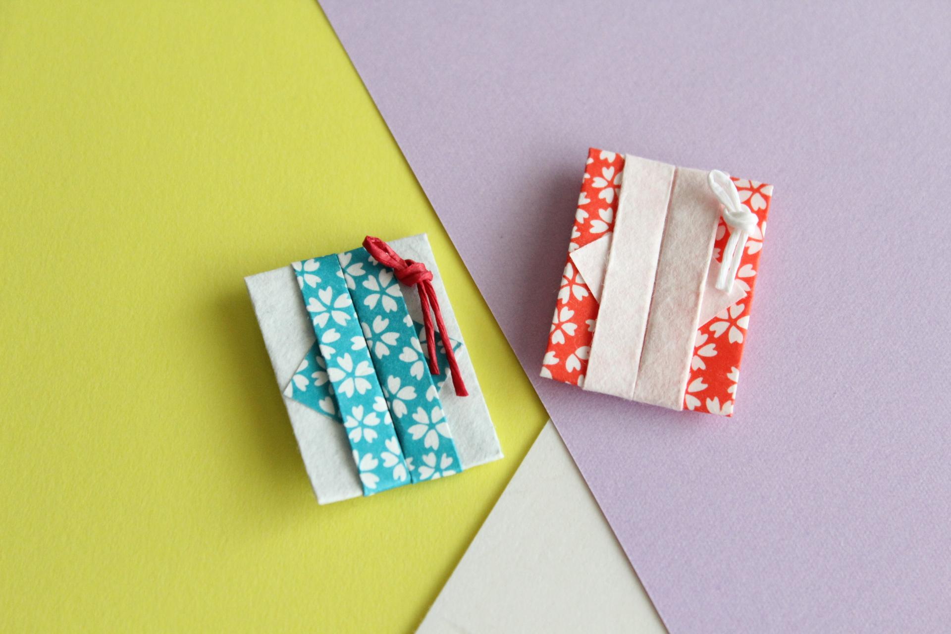 折り紙で紅入れの作り方