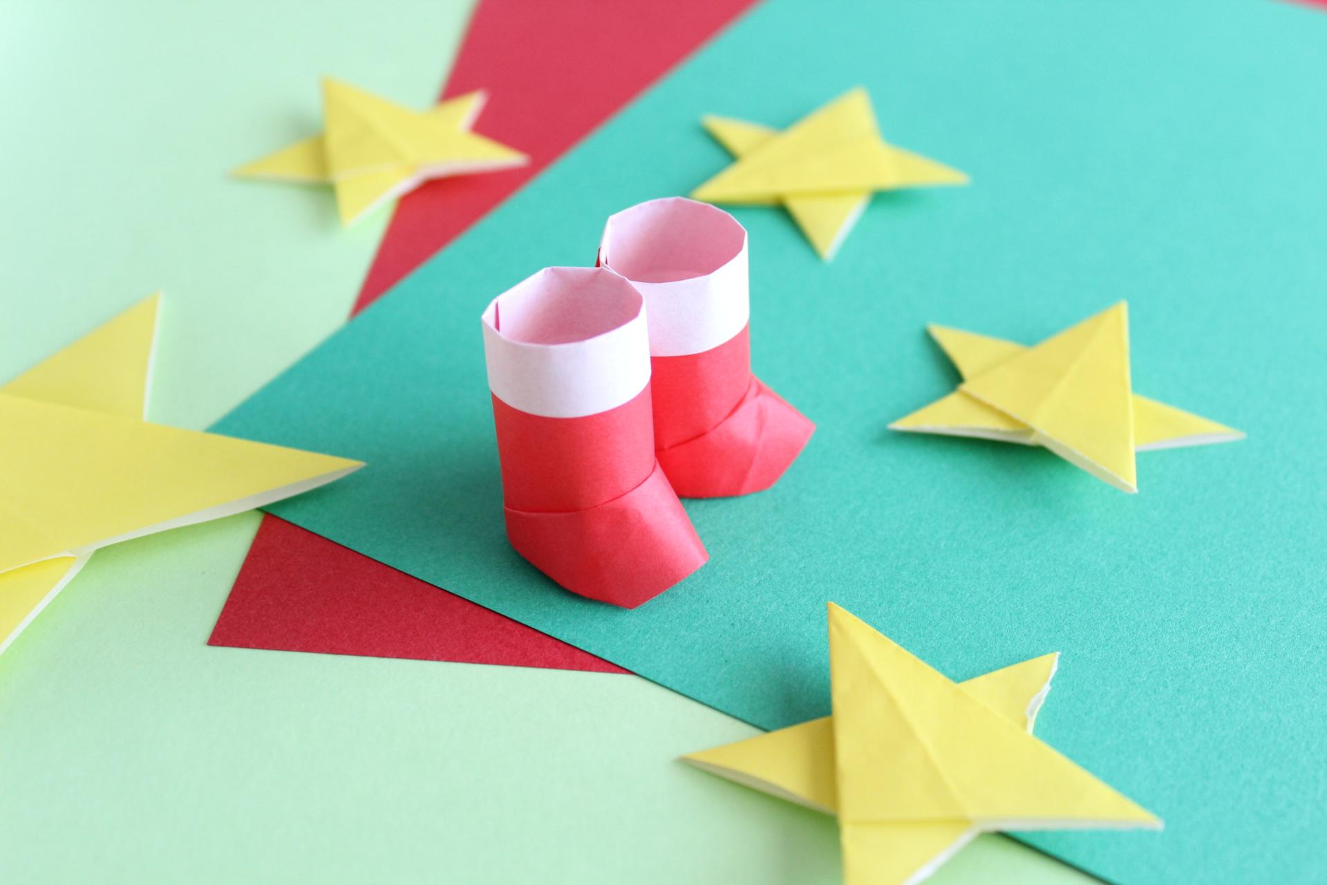 クリスマスの折り紙「12月」