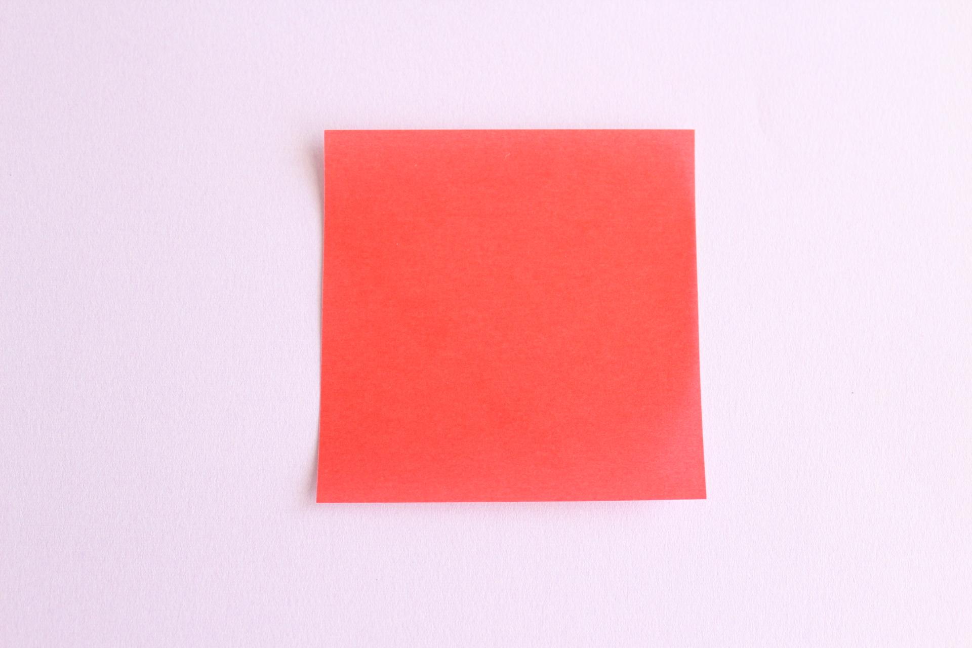 トリの折り方1