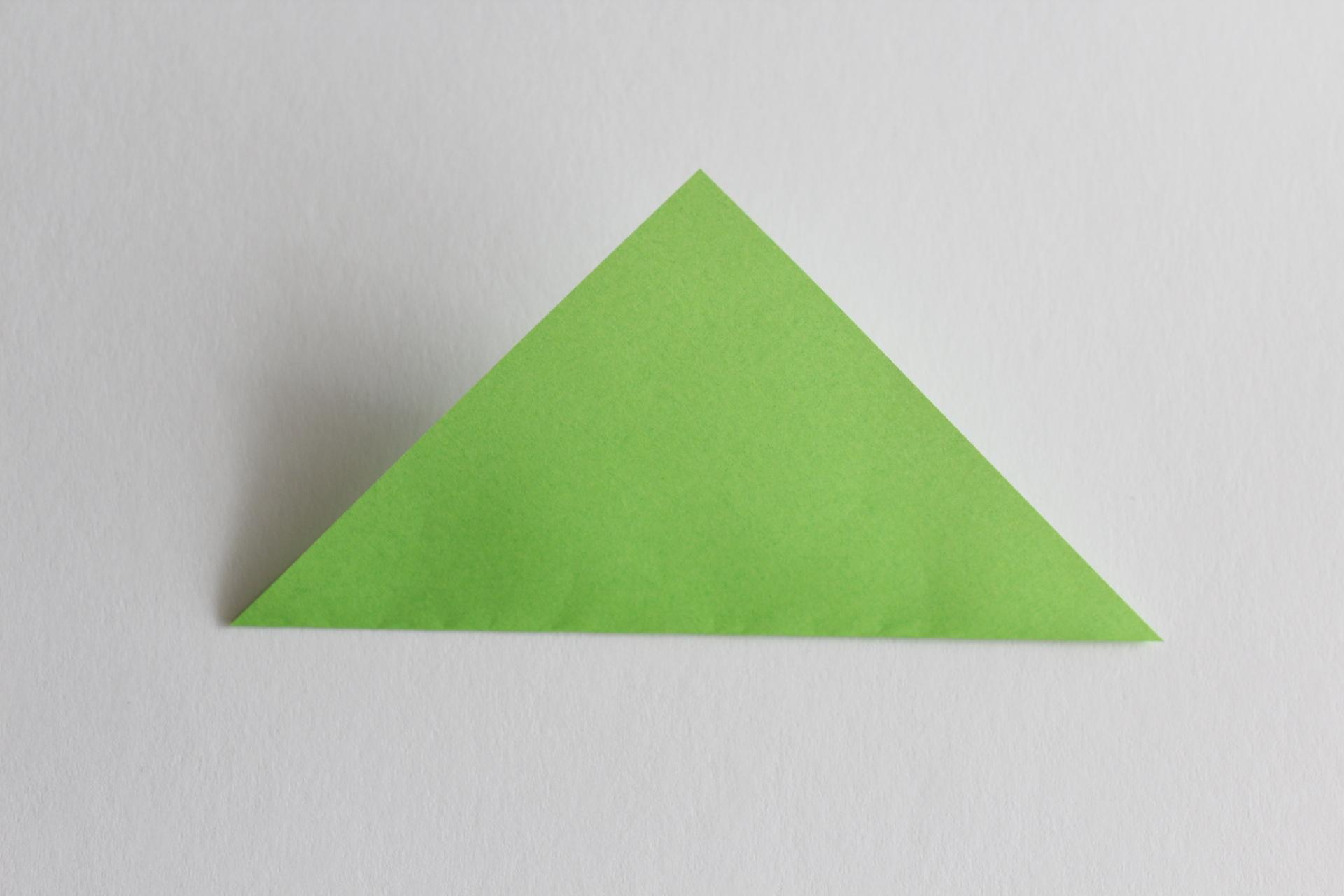 クリスマスツリーの折り方2