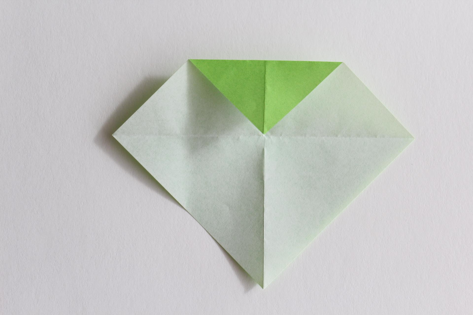 クリスマスツリーの折り方4