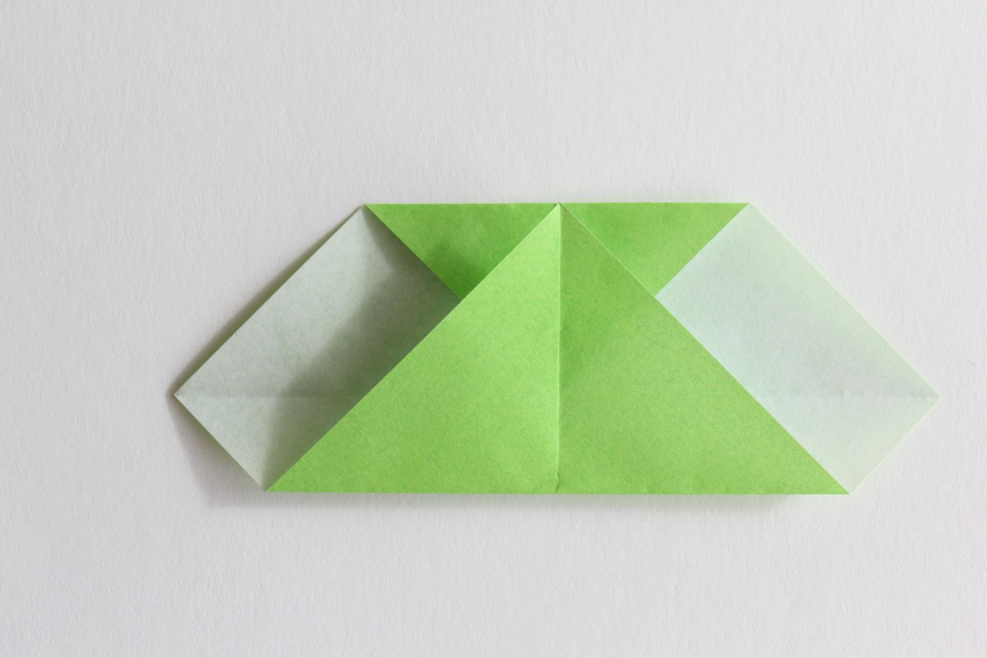クリスマスツリーの折り方5