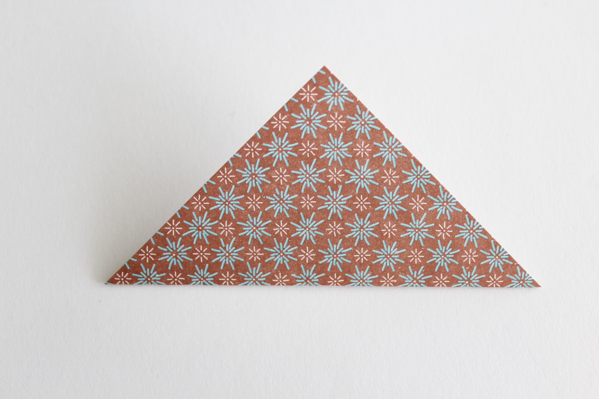 クリスマスツリーの折り方9