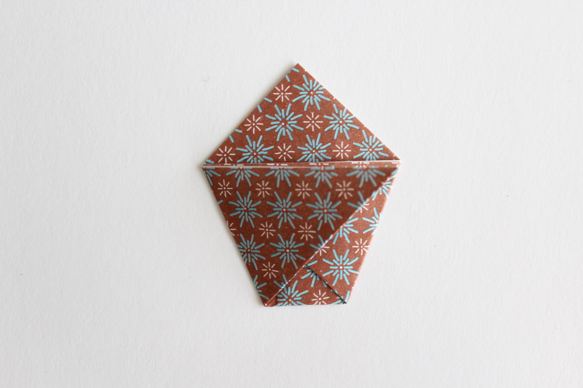 クリスマスツリーの折り方11