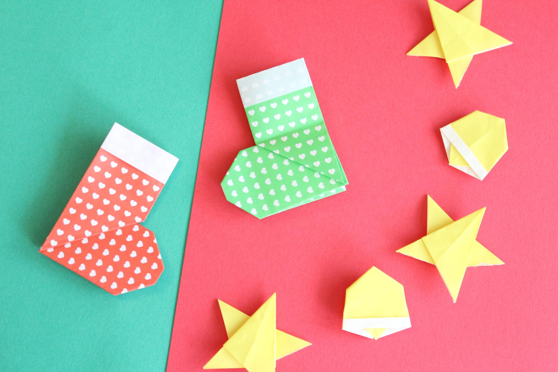 折り紙で靴下の折り方