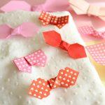 折り紙でリボンの折り方!ラッピングなどに可愛いアイテム!