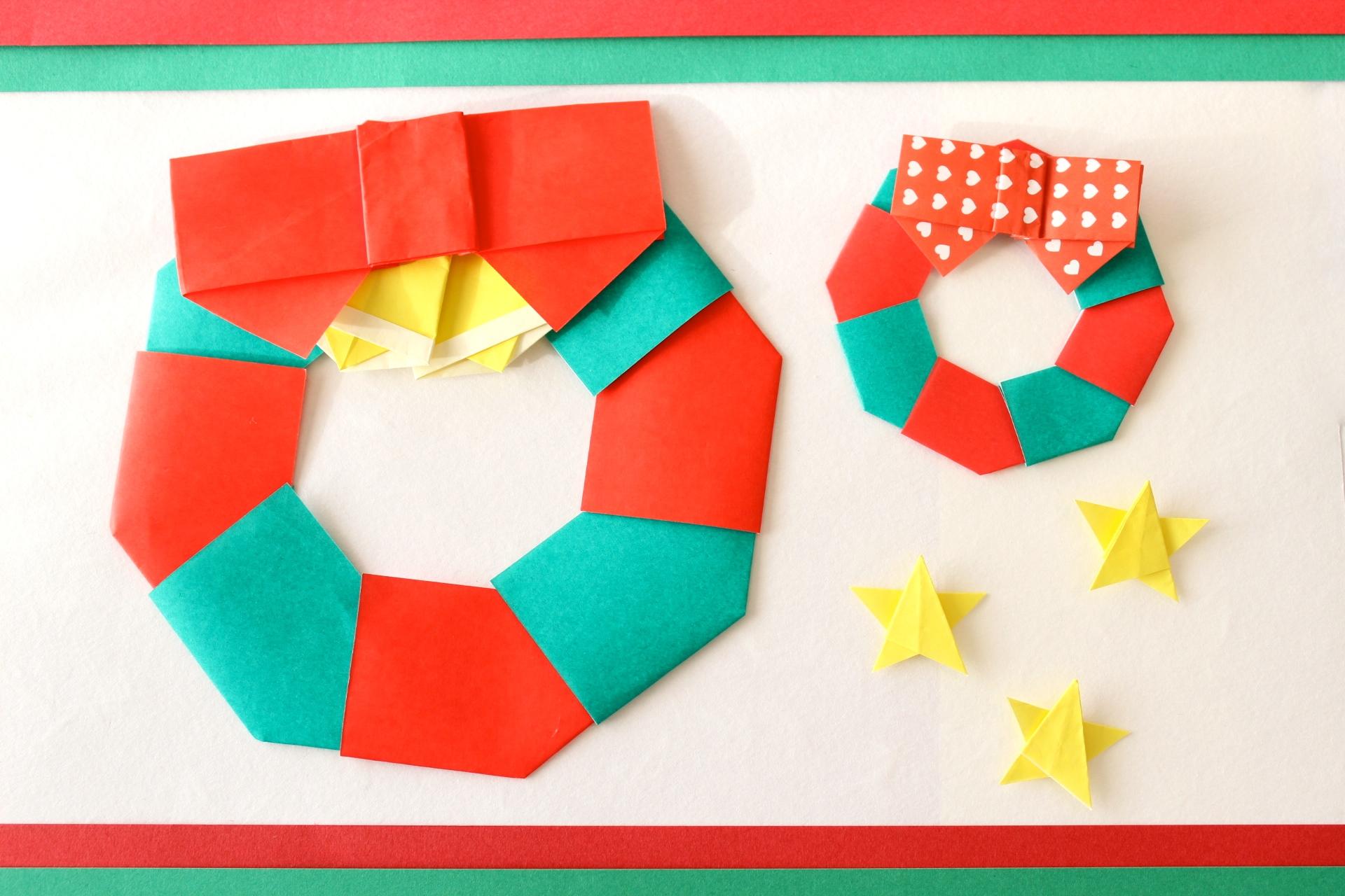 折り紙でリースの折り方