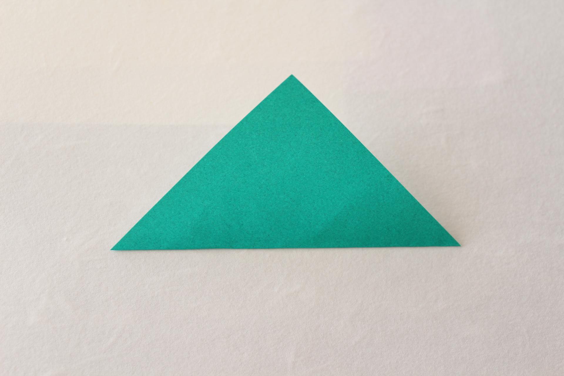 クリスマスリースの折り方1
