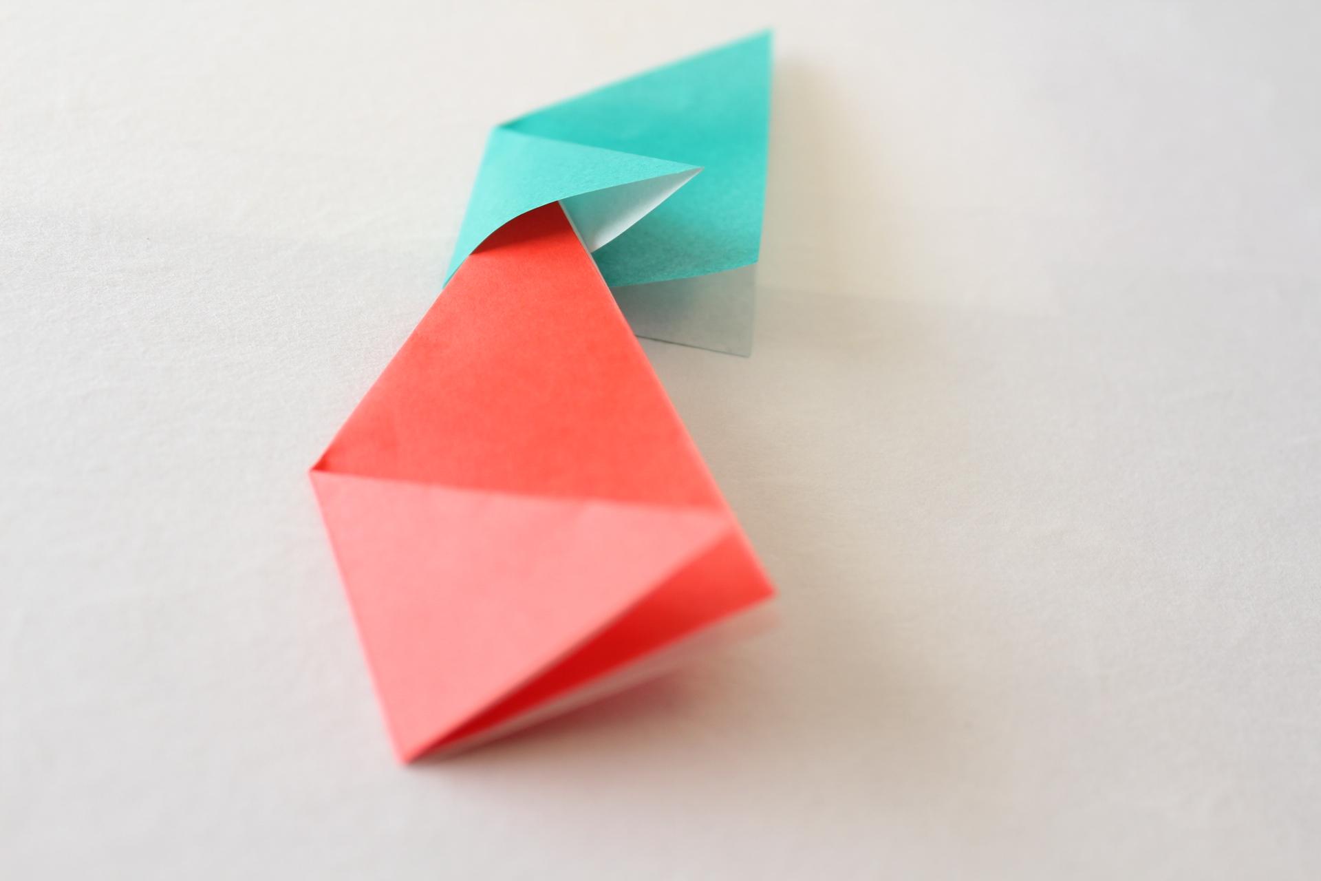 クリスマスリースの折り方3