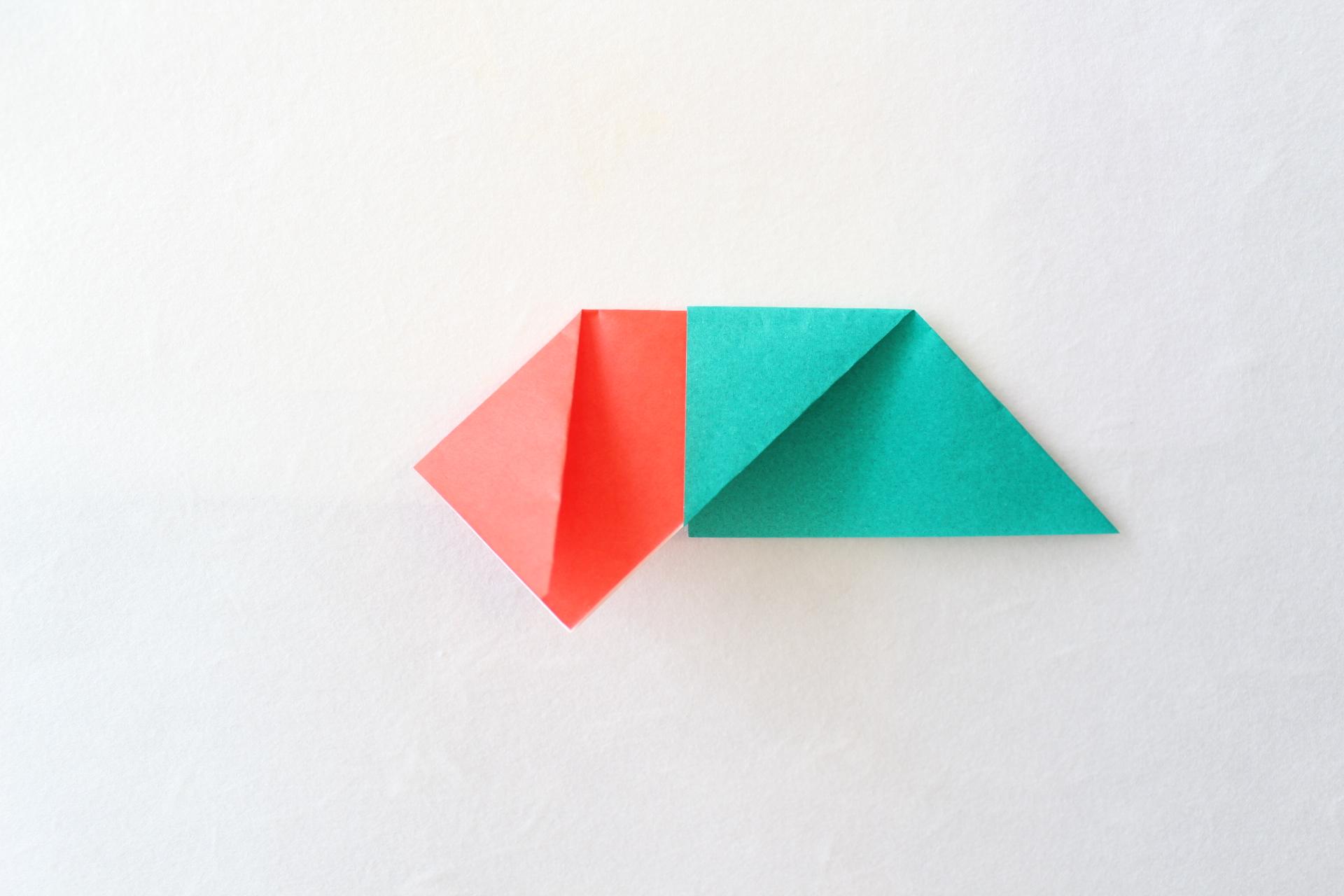 クリスマスリースの折り方4