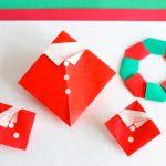 【折り紙】サンタさんの簡単な折り方!帽子とお洋服がステキ!