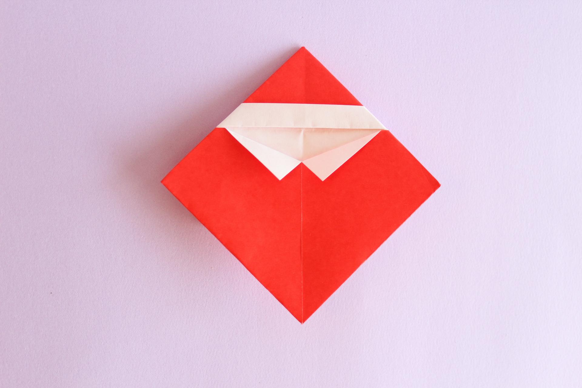 サンタの折り方7