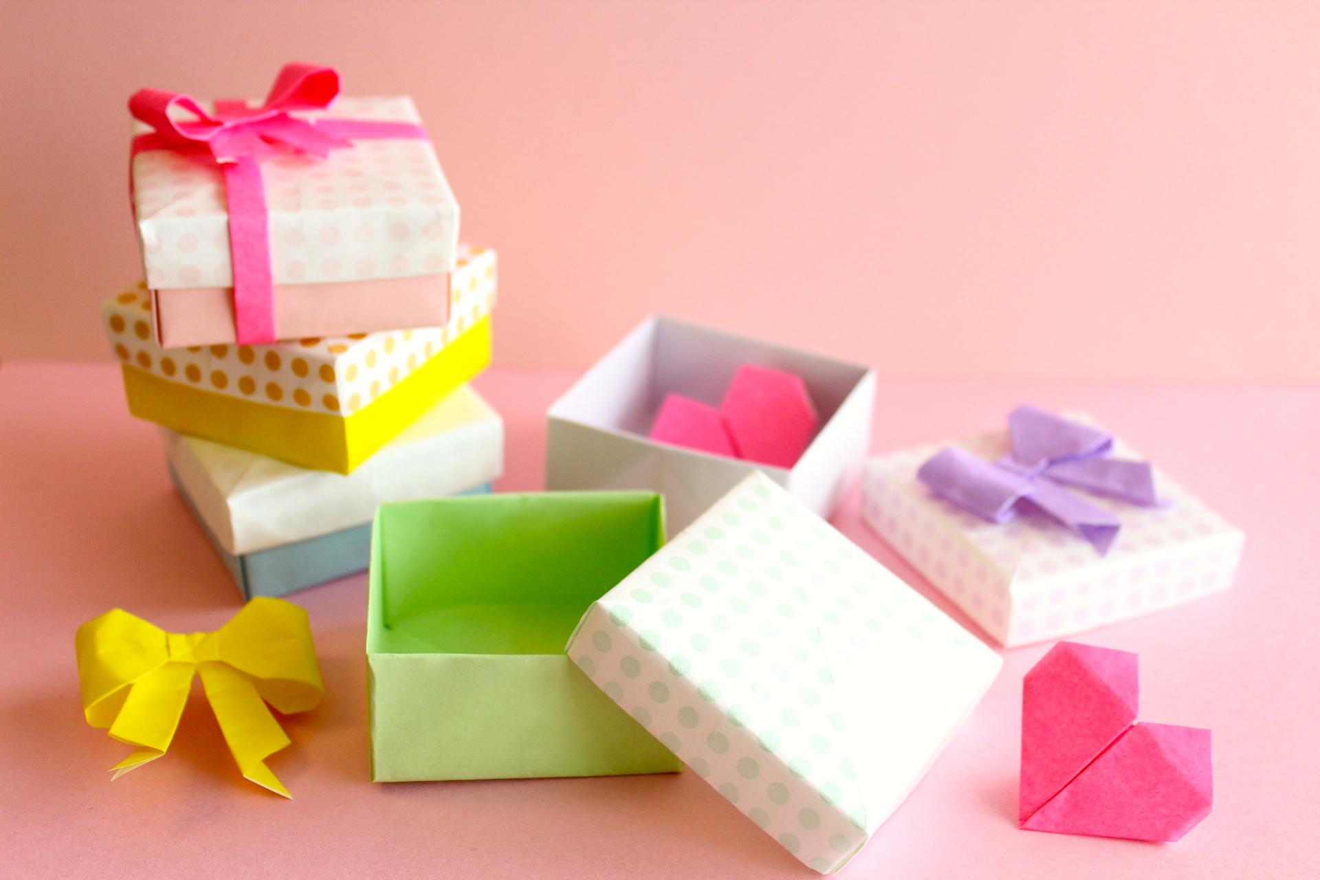 折り紙でふた付きの箱の折り方
