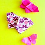 折り紙 ちょうちょ 簡単で立体的な蝶々の折り方