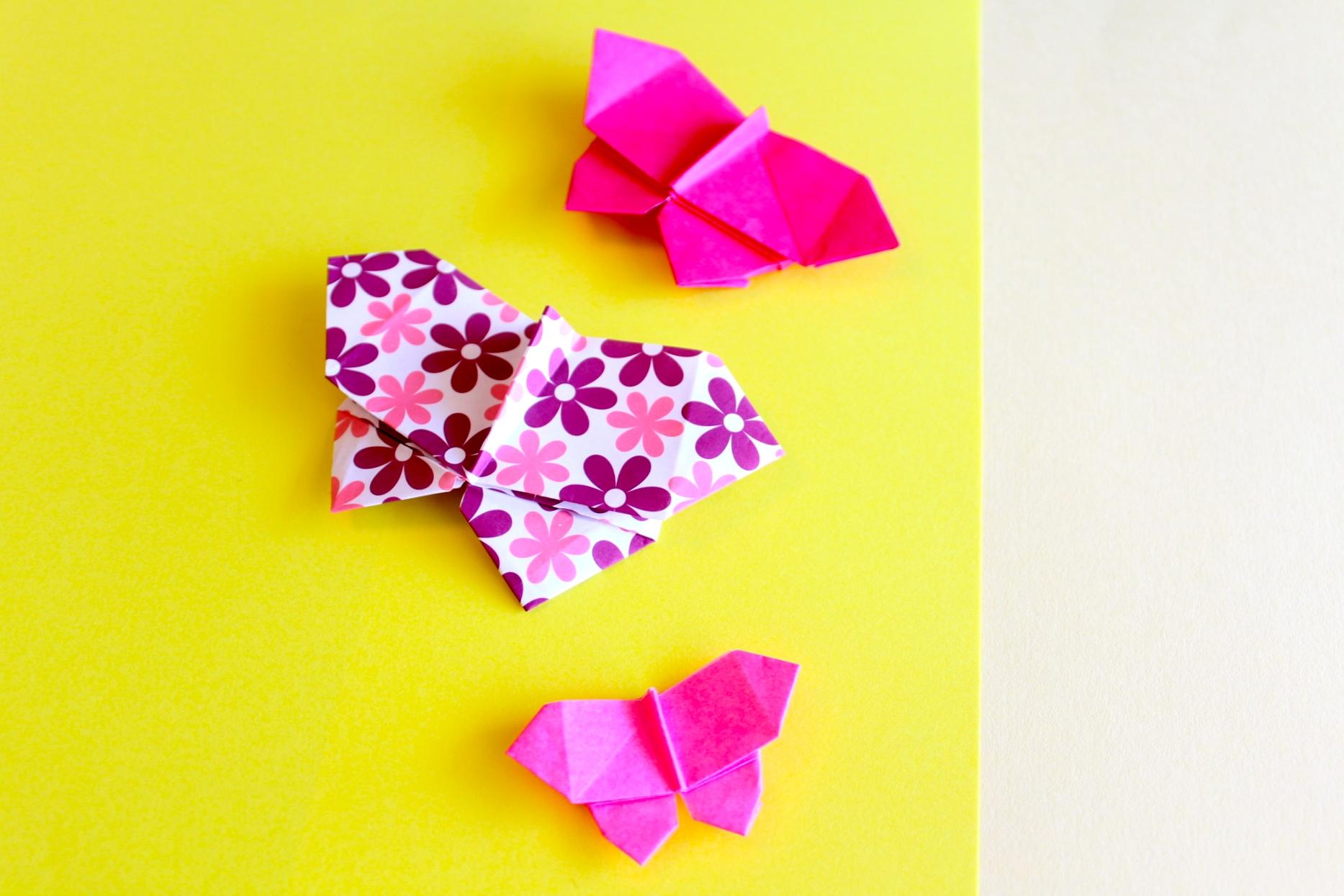 折り紙でちょうちょの折り方