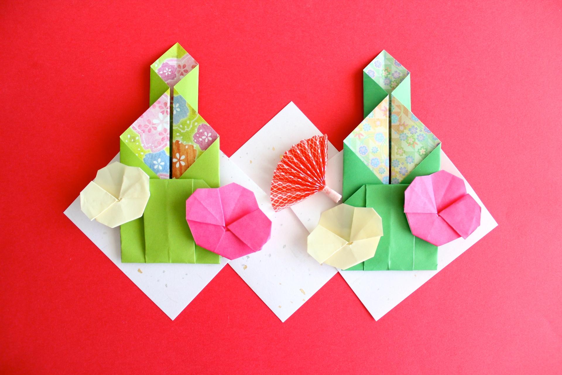 折り紙で門松