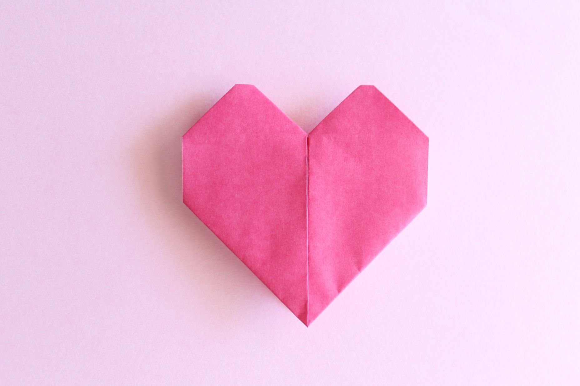 折り紙でハートの折り方