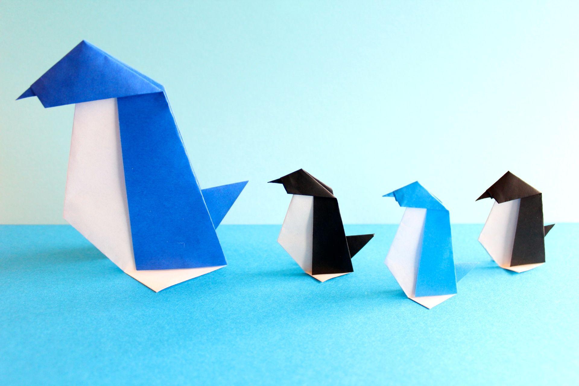 折り紙でペンギンの折り方
