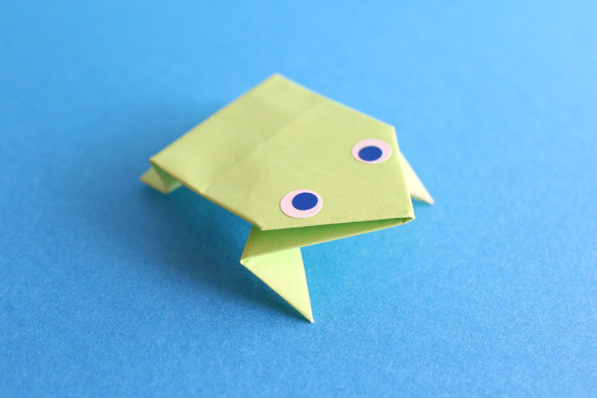 折り紙でぴょんぴょんカエルの折り方
