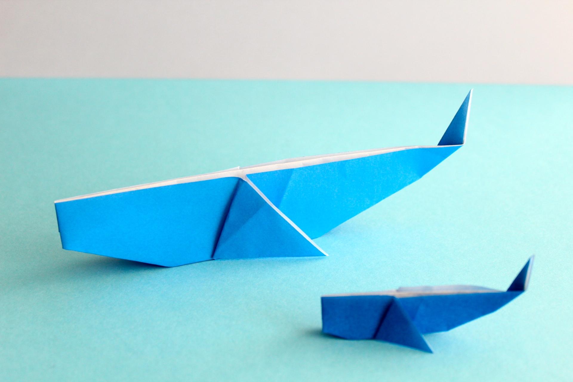 折り紙でクジラの折り方