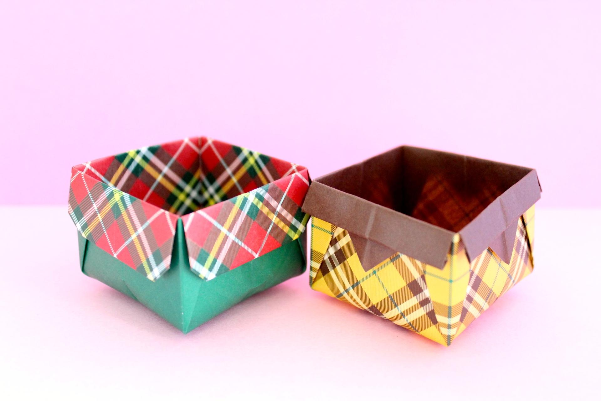 折り紙でオープンボックスの折り方