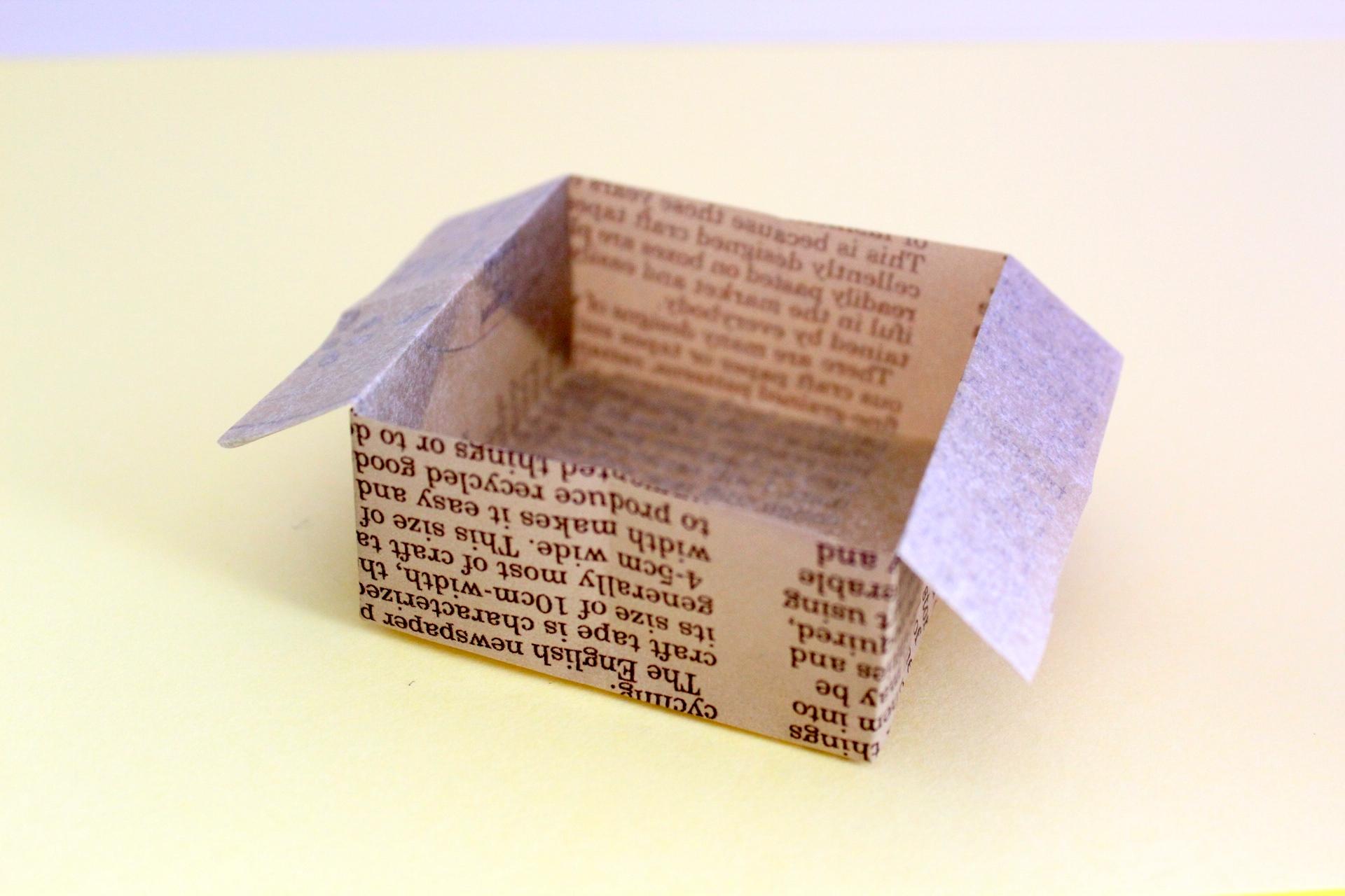 新聞紙折り紙