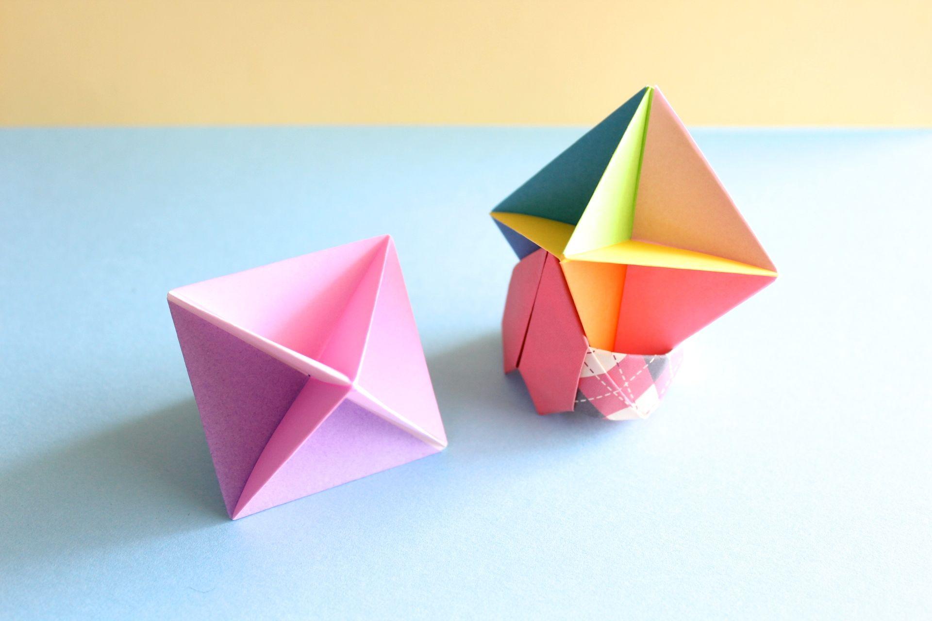 折り紙で「吹きゴマ」の折り方
