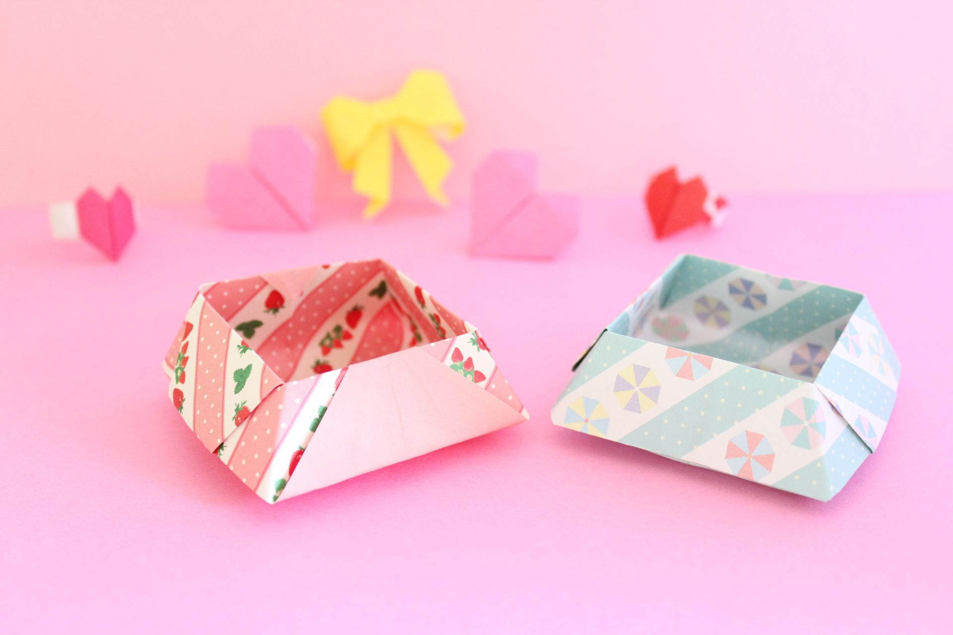折り紙で菓子箱の折り方