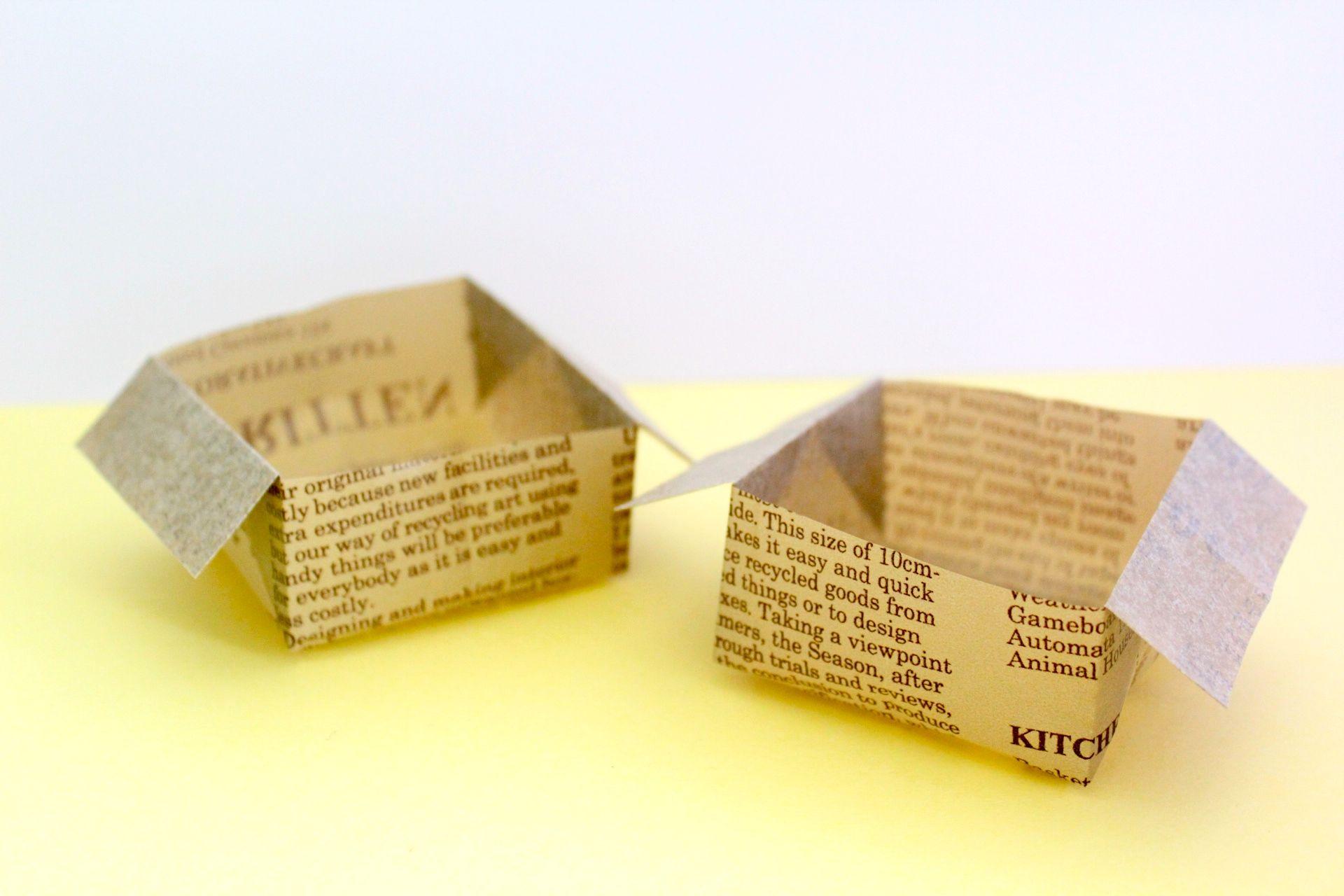 折り紙でゴミ箱の折り方