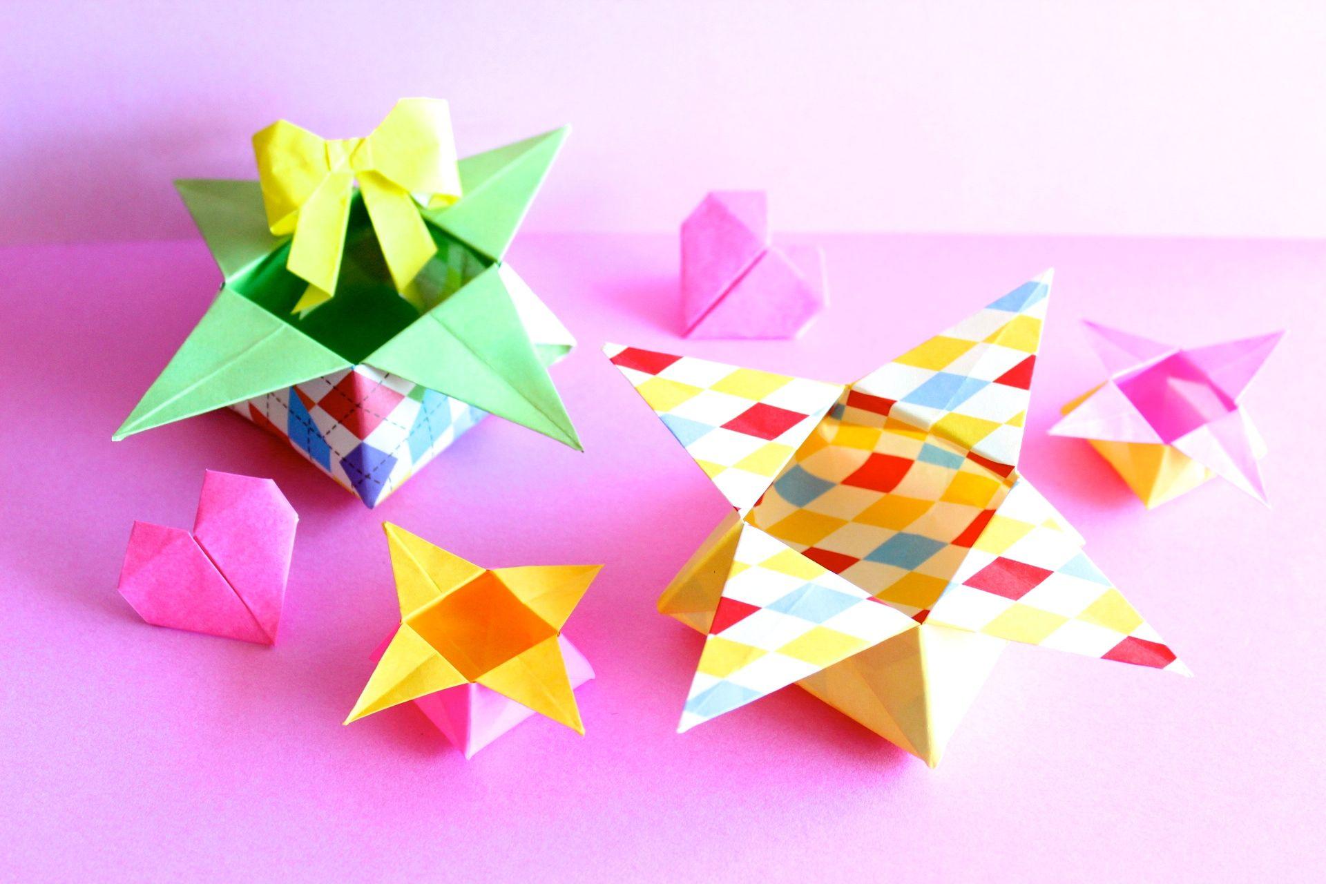 折り紙で角箱(つのばこ)の折り方