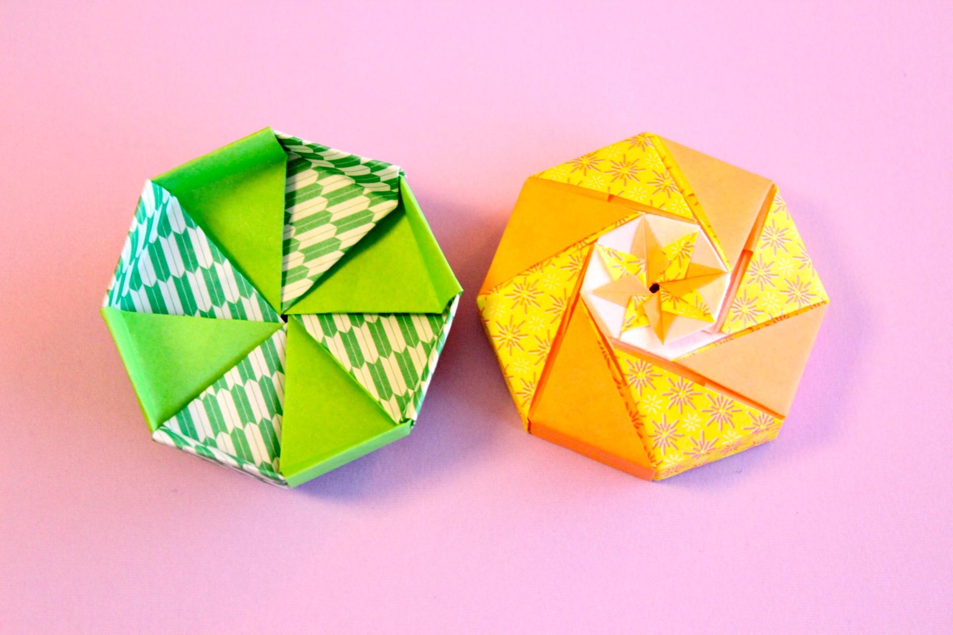 折り紙で八角形の箱の折り方