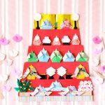  折り紙でひな飾り!雛人形やお道具など五段に並べるアイテムの作り方一覧