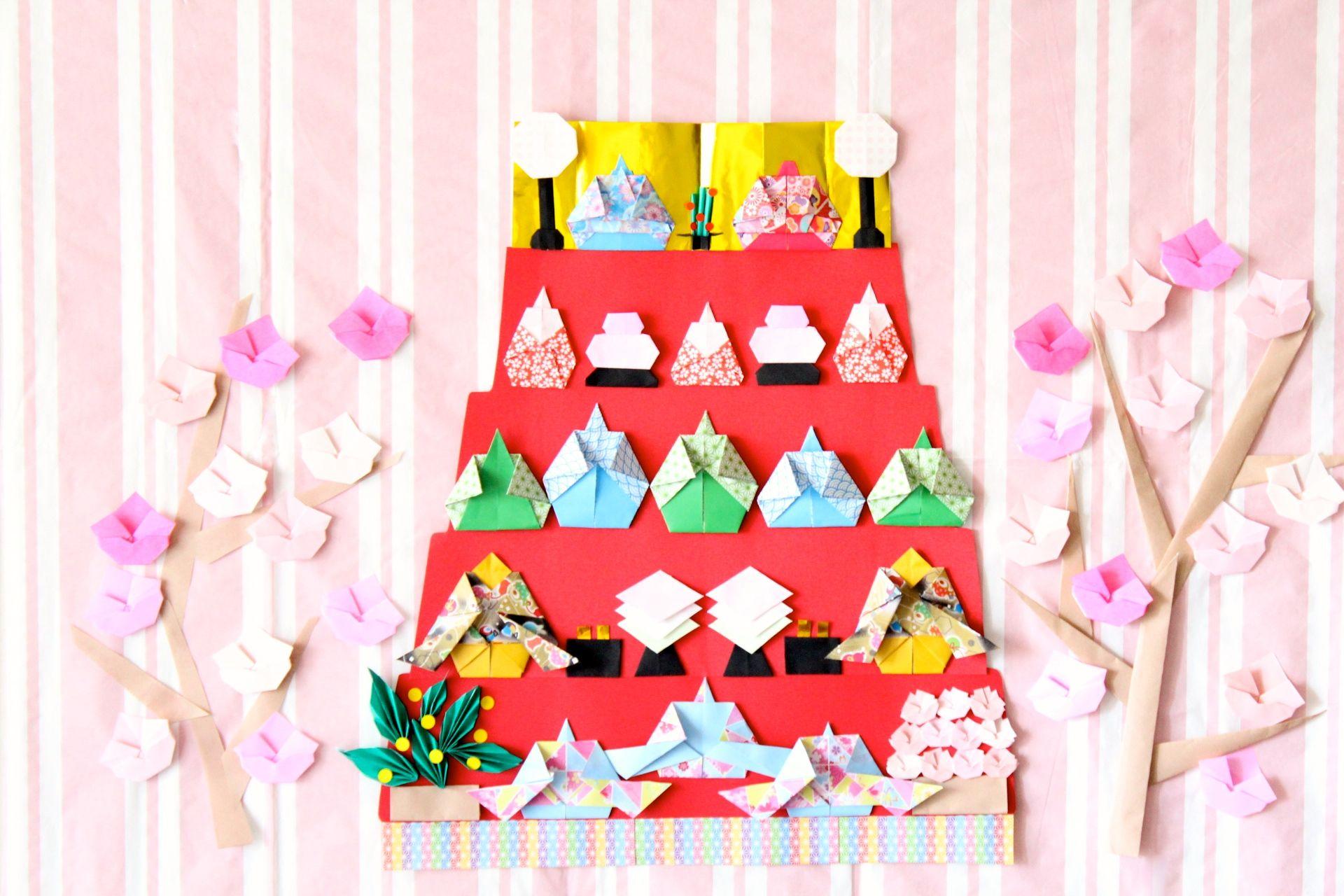 折り紙でひな祭り