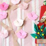桃の花の簡単な折り方!折り紙でかわいい壁飾りができるよ!
