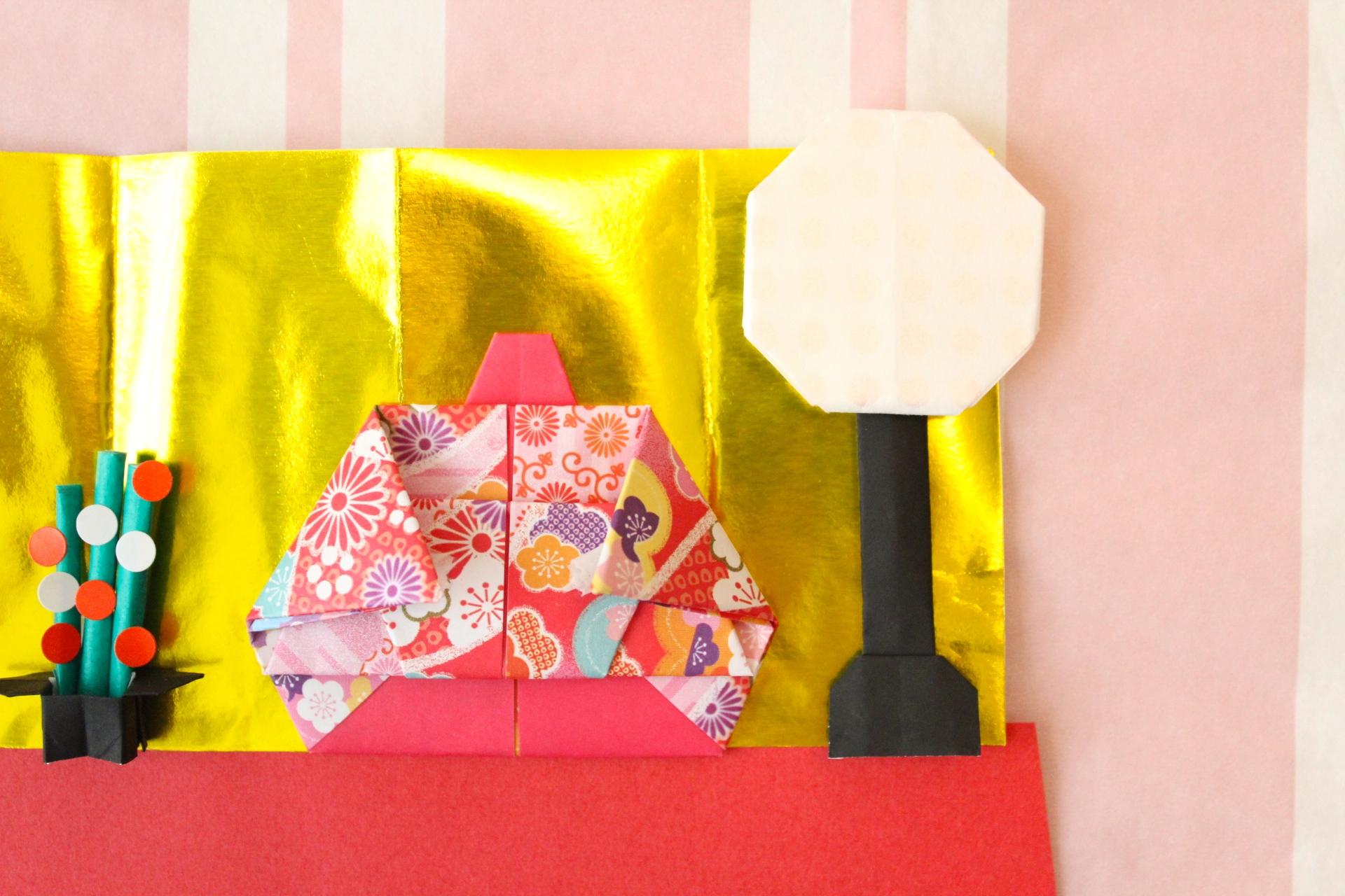折り紙でぼんぼりの折り方