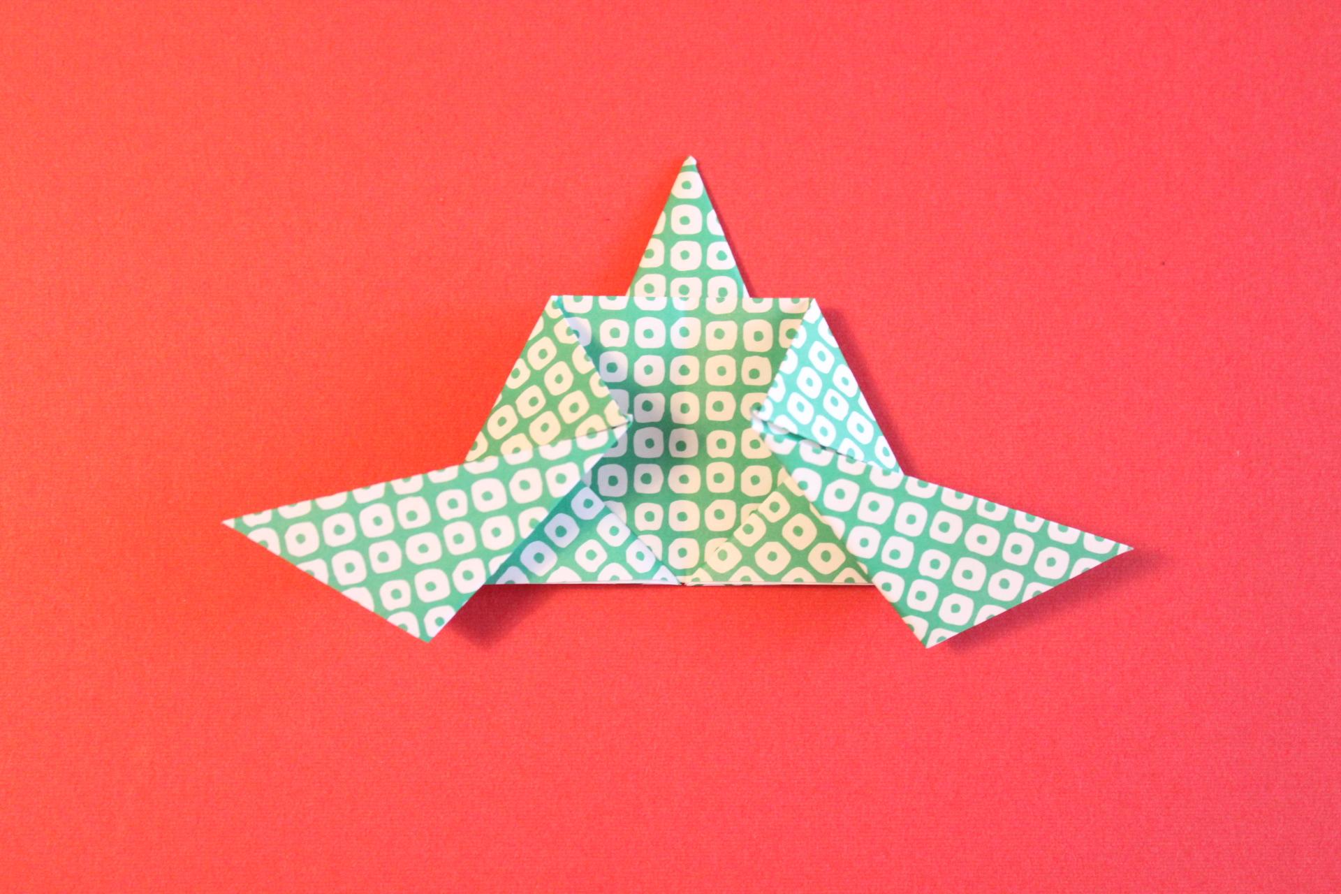 折り紙で仕丁の折り方