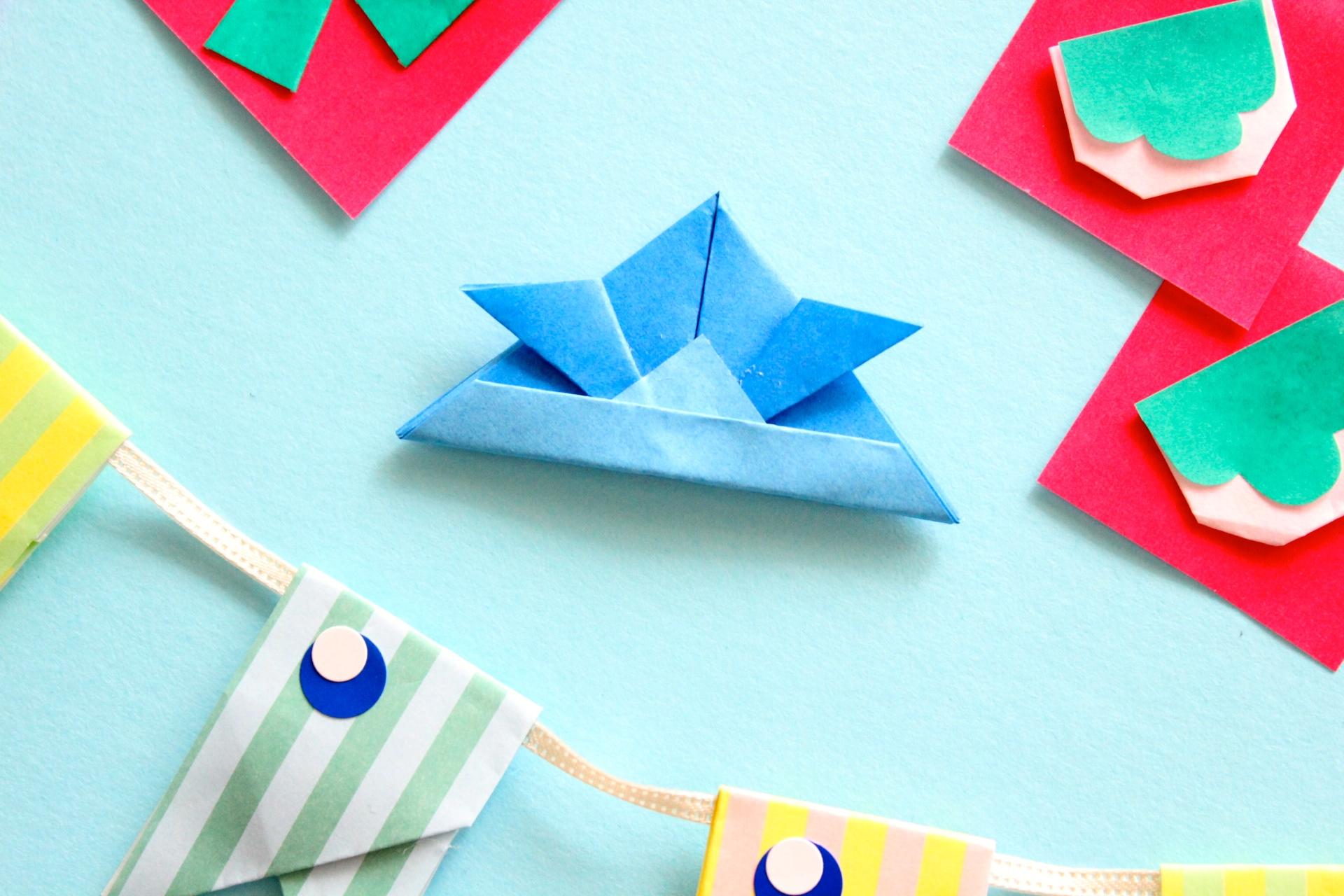 折り紙でかぶとの折り方