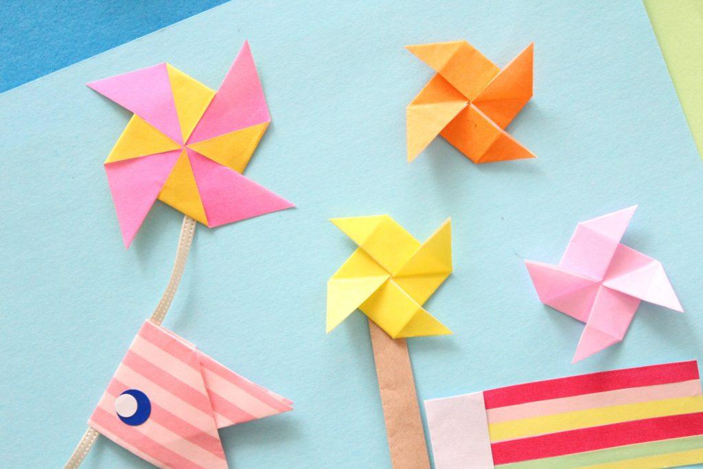折り紙で風車