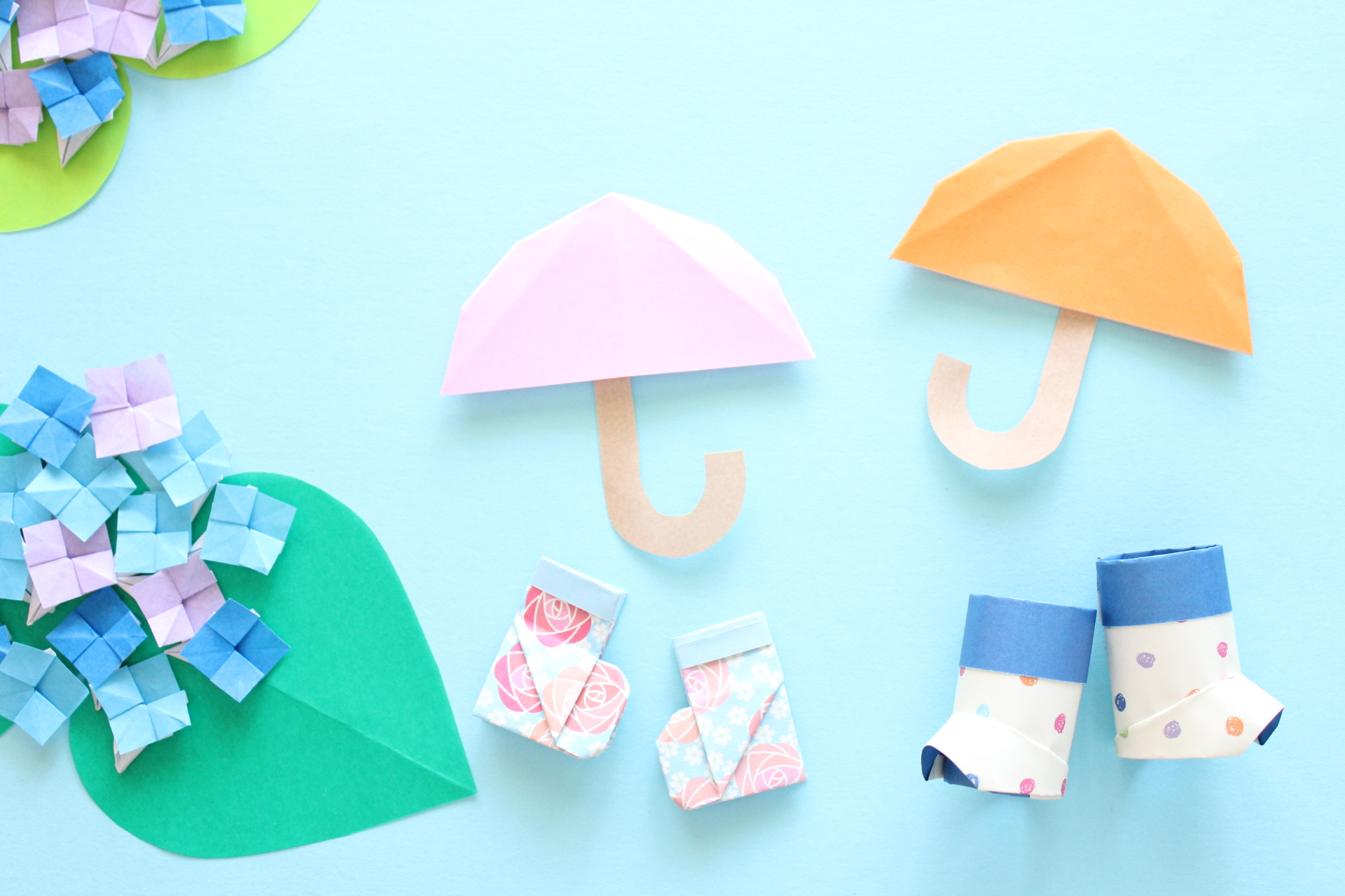 折り紙で傘の折り方