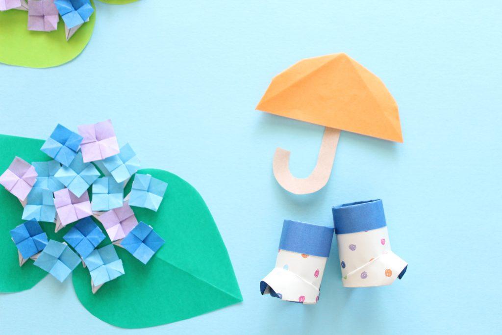 レインブーツの折り紙