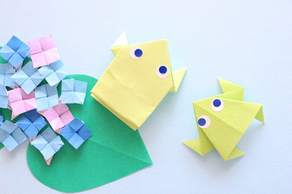カエルの折り紙