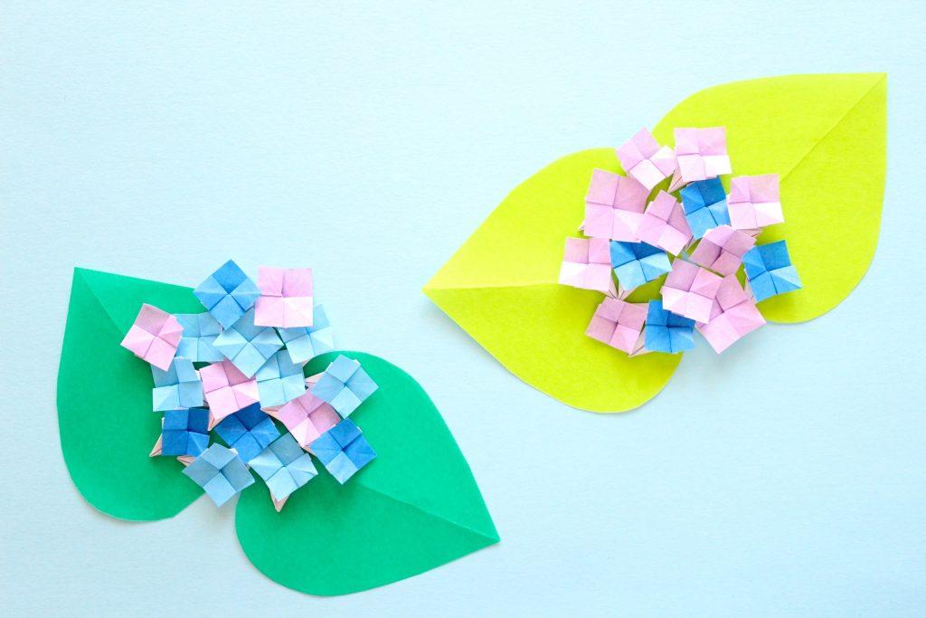 あじさいの折り紙