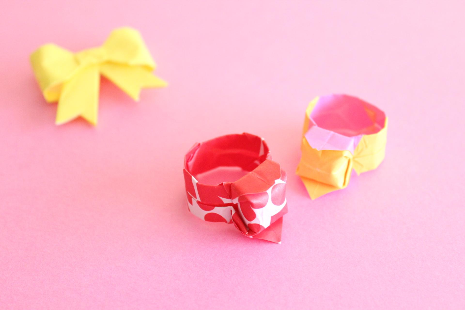 折り紙で指輪の折り方