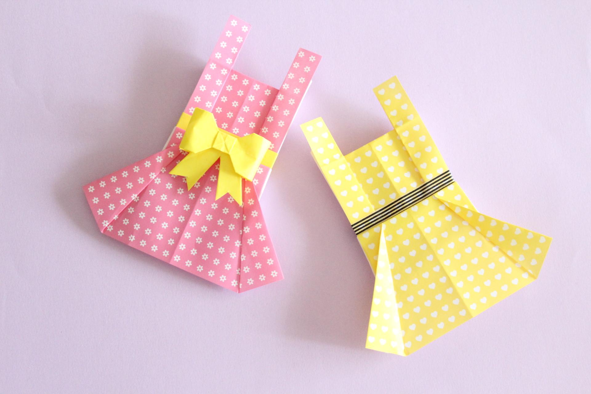 折り紙でエプロンの折り方