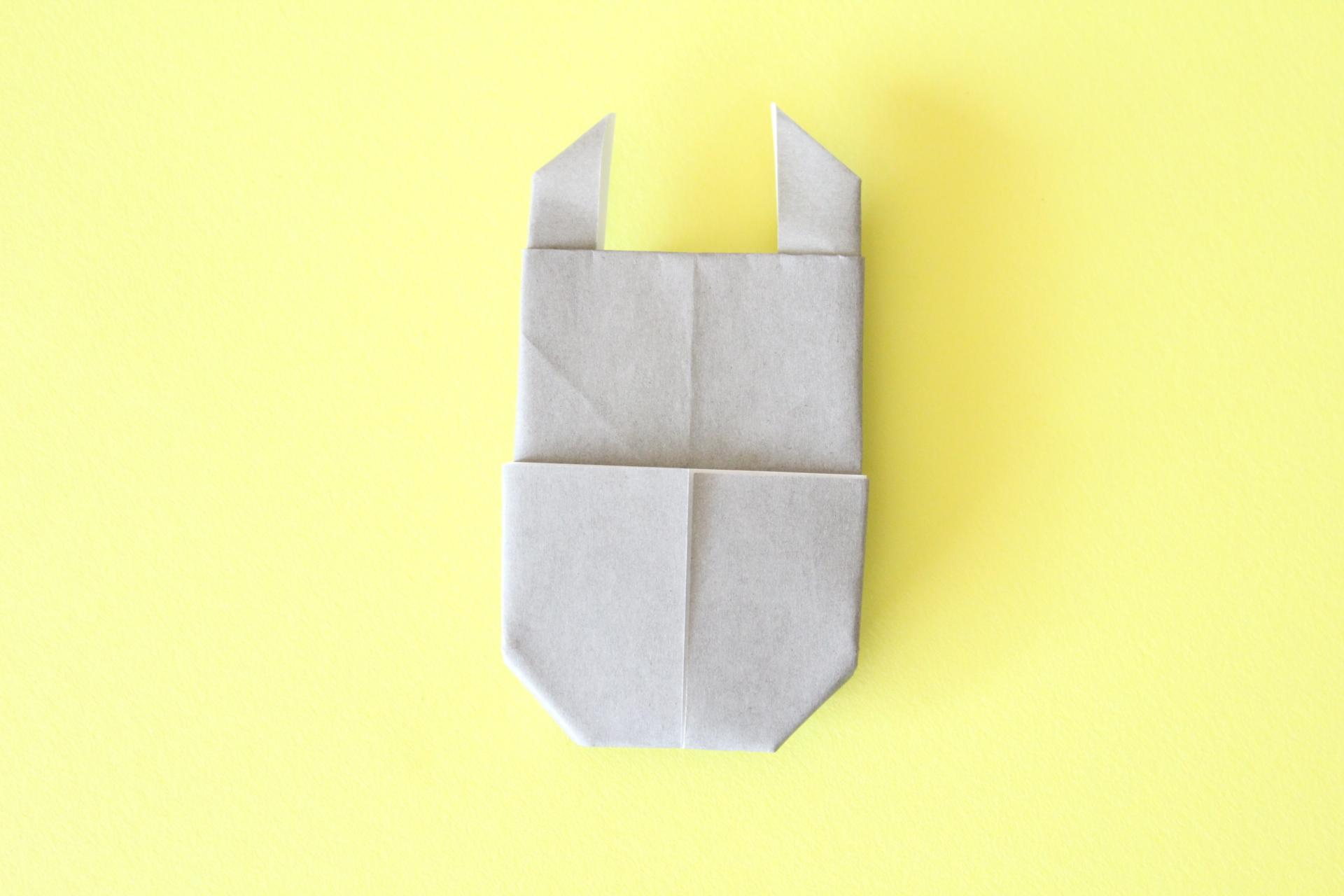 折り紙でクワガタの折り方